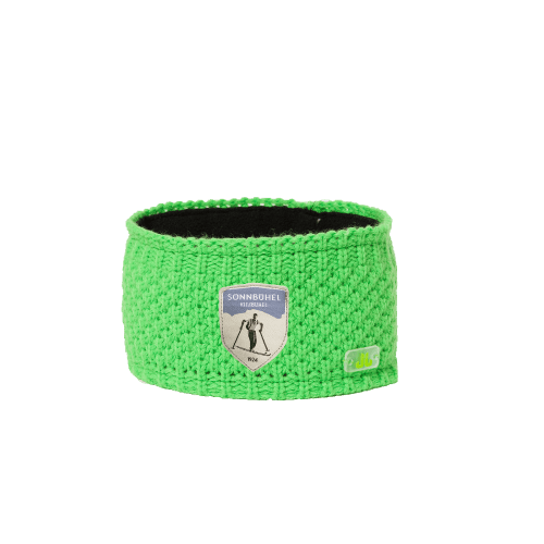 Stirnband grün mit Sonnbühel-Logo